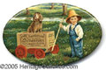 Advertising:Pocket Mirrors & Pinbacks, BERRY BROTHERS PAINT ADVERTISING BOY AND DOG IN WAGON. I am awa...
