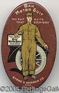 Advertising:Pocket Mirrors & Pinbacks, AUTOMOTIVE RELATED OAK MOTOR SUITS MIRROR. This car related adv...