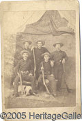 Photography:Cabinet Photos, WESTERN PHOTO COWBOYS WITH WINCHESTERS. Nice cabinet photo of a...
