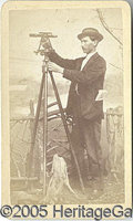 Photography:CDVs, SURVEYOR AND TRANSOM CDV. Nice CDV of an unidentified man with ...