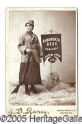Photography:Cabinet Photos, CABINET CARD LADY ADVERTISING SPORTING AND HUNTING GOODS. Excel...