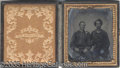 Photography:Tintypes, 6TH PLATE TINTYPE IMAGES OF 2 ZOUZVES. Interesting image of two...