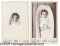 Photography:Cabinet Photos, POST MORTEM CABINET CARDS OF 2 ALLIANCE, OH CHILDREN. This lot ...