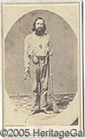 Photography:CDVs, CALIFORNIA JOE TYPE WESTERN FIGURE CDV. Excellent CDV of a west...