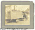 Photography, LARGE EARLY PHOTO OF CRACKER JACK DELIVERY TRUCK. Wonderful lar...
