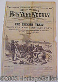 "Books:Fiction, NEW YORK WEEKLY WITH FACTIOUS ACCOUNT OF CUSTER AT ""LITTLE BIG H..."