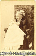 "Photography:Cabinet Photos, RARE JULIA WARD HOWE SIGNED CABINET PHOTO (AUTHOR OF THE ""BATTLE..."