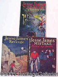 Books:Periodicals, JESSE JAMES ADVENTURE SERIES 3 ISSUES. This group is 3 issues o...