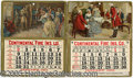Advertising:Signs, LOT OF 5 VINTAGE CALENDARS: HOODS SARSAPARILLA, METROPOLITAN LIF...