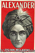 "Advertising:Signs, ALEXANDER – ""THE MAN WHO KNOWS"" – ORIGINAL POSTER. Alexander the..."