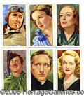 "Miscellaneous:Trading Cards, 1939 GALLAHER LTD. ""MY FAVOURITE PART"" COMPLETE SET. These toba..."