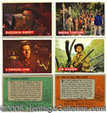 Miscellaneous:Trading Cards, 1956 TOPPS DAVY CROCKETT NEAR SET. For a fleeting period in 195...