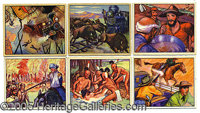 "1950 BOWMAN ""WILD WEST"" SET. Among the several non-sport classics of the post-war era is Bowman's 180-card pro..."