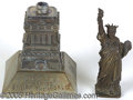 Antiques:Decorative Americana, 1885 DATED STATUE OF LIBERTY INK WELL. This nicely made twopart...