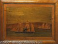 Antiques:Folk Art, MAGNIFICENT CIVIL WAR- PERIOD INLAID WOOD IMAGE OF THE FAMED CON...