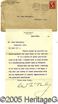 Autographs:U.S. Presidents, 1896 ELECTION YEAR MCKINLEY SIGNED LETTER. TLS on his personal ...
