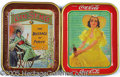 Advertising:Trays, LOT OF TWO ADVERTISING SERVING TRAYS. This lot of two serving t...