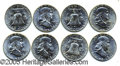 Miscellaneous:Coins and Currency, GROUP OF (5) ORIGINAL ROLLS OF (20) B. U. FRANKLIN HALF DOLLARS....