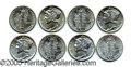 Miscellaneous:Coins and Currency, B.U. ROLL OF (50) 1943 MERCURY DIMES. Lovely roll, all with ful...