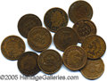 Miscellaneous:Coins and Currency, THREE HUNDRED MIXED DATE INDIAN HEAD PENNIES. Mostly 1887-1908....