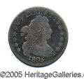 """Miscellaneous:Coins and Currency, 1805 DRAPED BUST DIME. A solid Good+ example of this tough """"typ..."""
