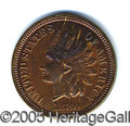 Miscellaneous:Coins and Currency, GORGEOUS PROOF 1880 INDIAN HEAD PENNY. Surface original and nev...