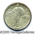 Miscellaneous:Coins and Currency, CHOICE B.U. 1917-S STANDING LIBERTY QUARTER WITH STARS. Unmoles...