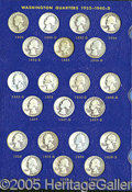 Miscellaneous:Coins and Currency, COMPLETE SET OF SILVER WASHINGTON QUARTERS, 1932- 1964. The pre...