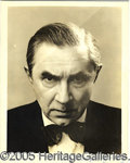"Autographs:Celebrities, LARGE BELA LUGOSI SIGNED PHOTO. Great image on this 8 x 10"" ori..."