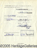 "Autographs:Statesmen, CONSTRUCTION CONTRACT SIGNED BY SPIRO AGNEW AS ""BALTIMORE COUNTY..."