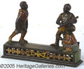 Antiques:Black Americana, 1880'S DARK TOWN BATTERY BANK AND CARD. This classic 19th centu...