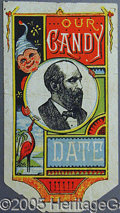 Political:Advertising, GARFIELD CANDY WRAPPER.. Beginning in the mid-19th century, man...