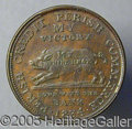 Political:Tokens & Medals, ANTI JACKSON PAPER AND MEDAL FROM 1834.. Although praised for h...