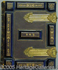 "Photography:CDVs, FORE EDGE PAINTING CDV ALBUM.. This 5 x 7"" leather ""Album for P..."