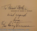 Autographs:U.S. Presidents, INSCRIBED TRUMAN BOOKS.. TRUMAN, Harry S. Senator, Vice- Presid...