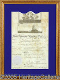 Autographs:U.S. Presidents, A FINE JAMES MADISON SIGNED DOCUMENT. 1810 ship's papers, signe...