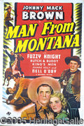 "Entertainment Collectibles:Movie, ""MAN FROM MONTANA"" ONE-SHEET. 1941 Universal Studios release, s..."