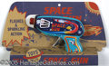 Antiques:Toys, 1950'S TIN TOY IN ORIGINAL 3-D CARDBOARD MOUNTING. Colorful toy...