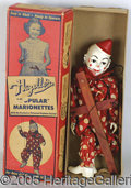 Antiques:Toys, VINTAGE CHILD'S CLOWN MARIONETTE IN ORIGINAL BOX. Puppet in NM,...