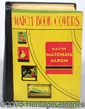 Advertising:Paper Items, HUGE 1930'S – '40'S ALBUM OF SOUVENIR MATCHES. Striking art dec...
