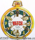 "Advertising:Small Novelties, 1950""S TOY WATCH DISPLAY. Colorful original store display with ..."