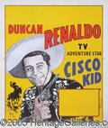 Entertainment Collectibles:Movie, 1950'S CISCO KID PERSONAL APPEARANCE POSTER. The details of the...