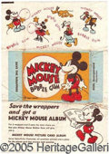 "Miscellaneous:Trading Cards, ""MICKEY MOUSE"" WRAPPER. Scarce and always popular. ..."