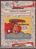"Miscellaneous:Trading Cards, ""SUPERMAN"" WRAPPER. A great, very tough wrapper. ..."