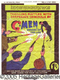 """Miscellaneous:Trading Cards, """"G-MEN"""" WRAPPER. Rare, early 1935 wrapper. ..."""
