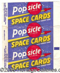 "Miscellaneous:Trading Cards, ""POPSICLE SPACE CARDS"" WRAPPER. An unassuming, but superrare wr..."