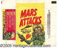 "Miscellaneous:Trading Cards, ""MARS ATTACKS"" WRAPPER. Key non-sport wrapper. ..."
