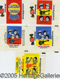 "Miscellaneous:Trading Cards, (7) ""MONKEES"" WRAPPERS. A nice c. 1967 collection of these popu..."