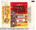 """Miscellaneous:Trading Cards, """"CIVIL WAR"""" WRAPPER. Scarce issue. ..."""