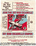 "Miscellaneous:Trading Cards, ""SKY BIRDS"" WRAPPER. Scarce, early 1934 National Chicle issue. ..."